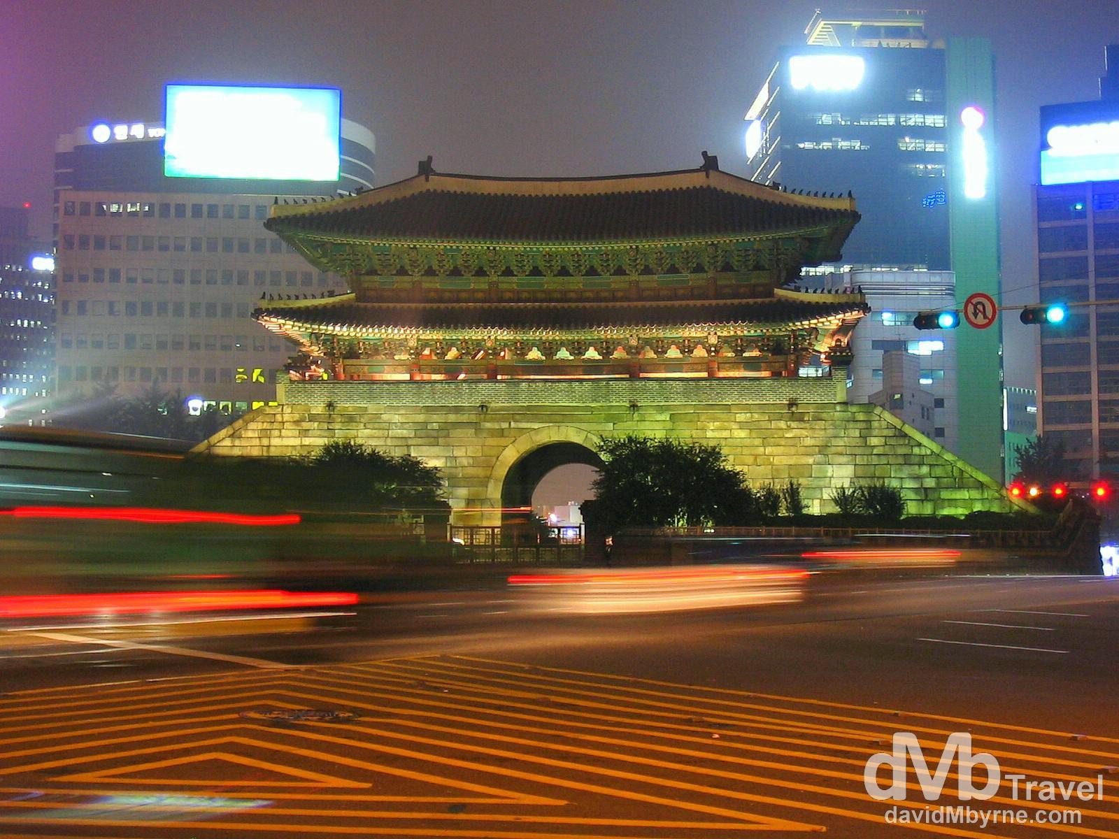 Namdaemun (Great Southern) Gate, Seoul, South Korea. July 14th 2004