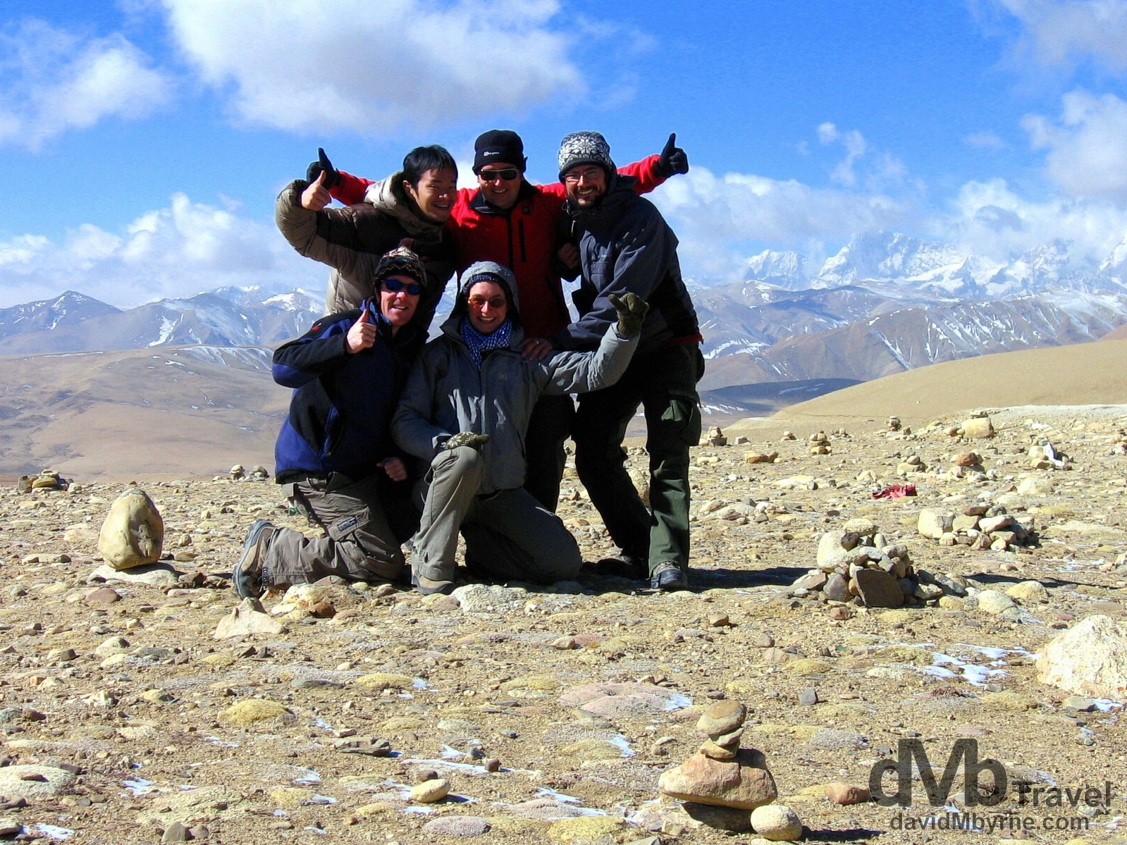 On the 5,050-metre (16,650 ft) Lalung La Pass on the Friendship Highway from Tingri to Zhangmu, Tibet. March 3rd 2008