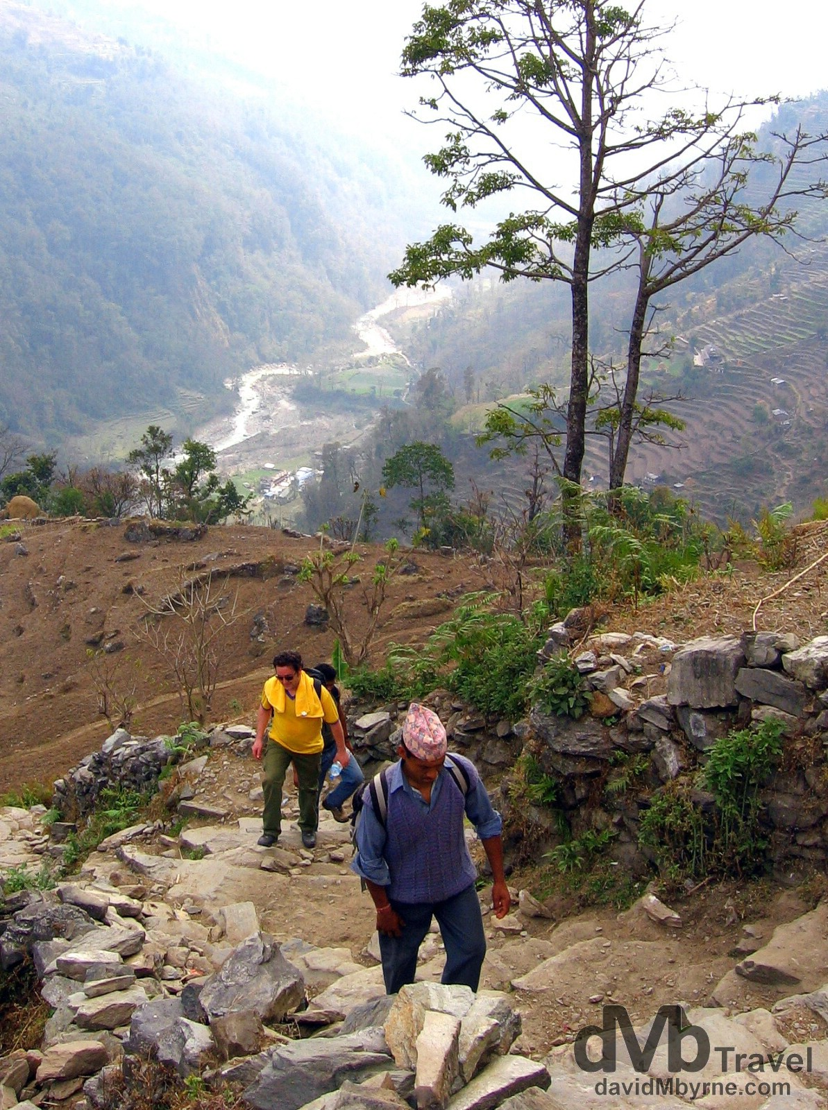 On the trail from Birethanti to Ghandruk, Annapurna Conservation Area, western Nepal. March 10th, 2008.