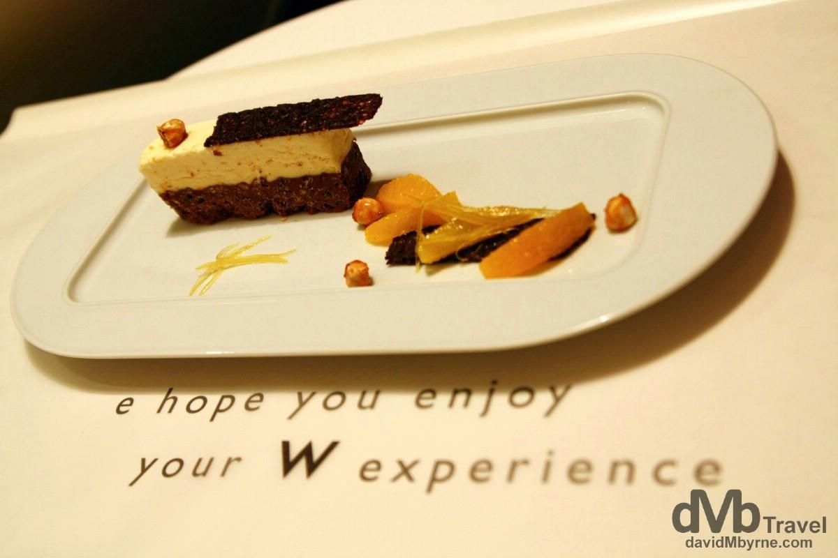 Room service, W Hotel, Walkerhill, Seoul.