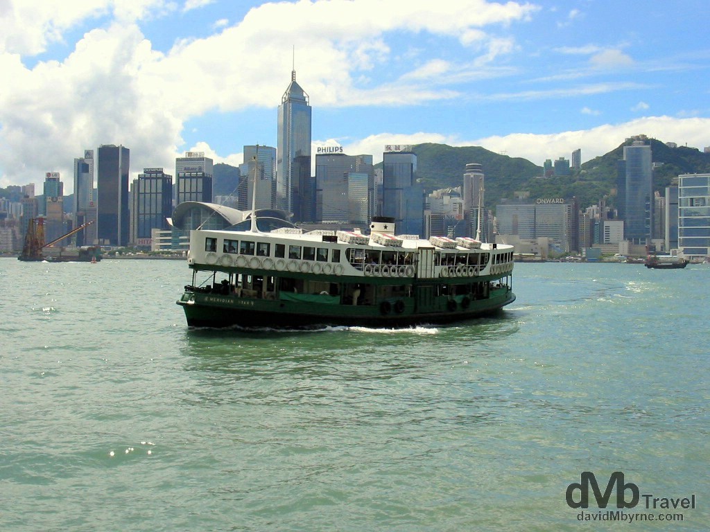 The Star Ferry in Victoria Harbour, Hong Kong, China. September 4th, 2004.