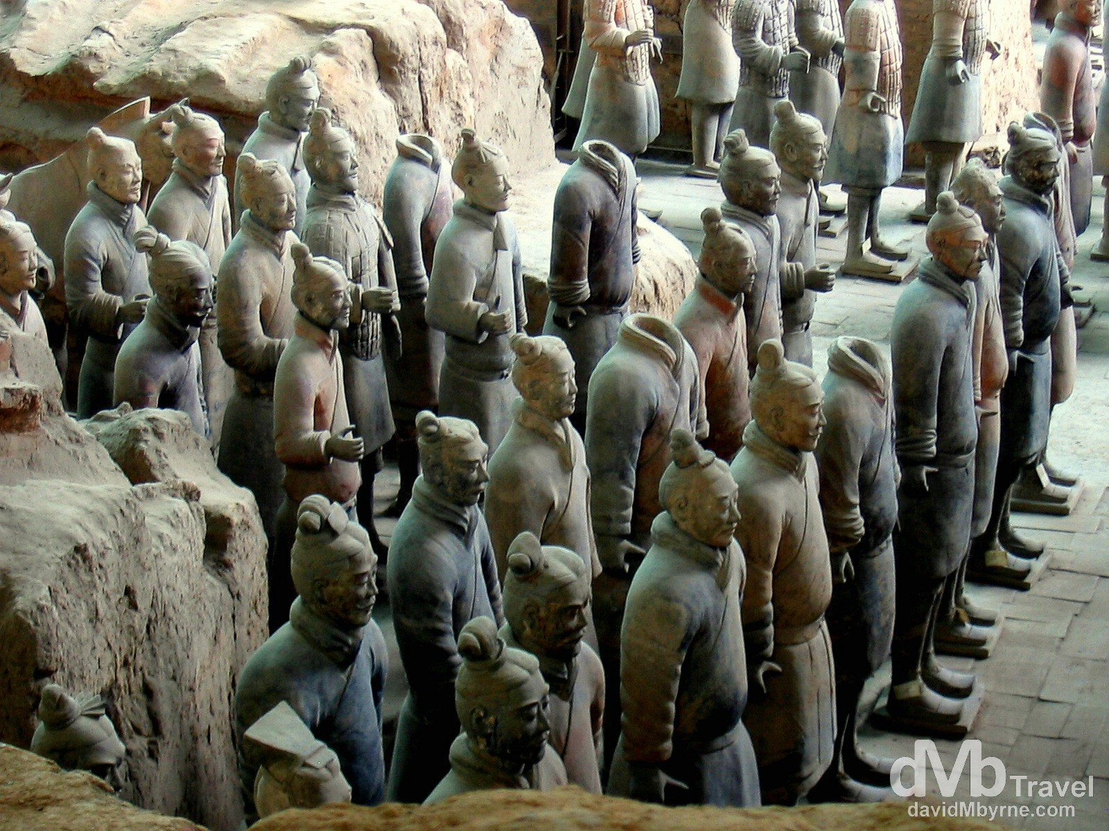 Vault 1 of the Terracotta Army on the outskirts of Xi'an, Shaanxi Province, China. September 30th, 2004.