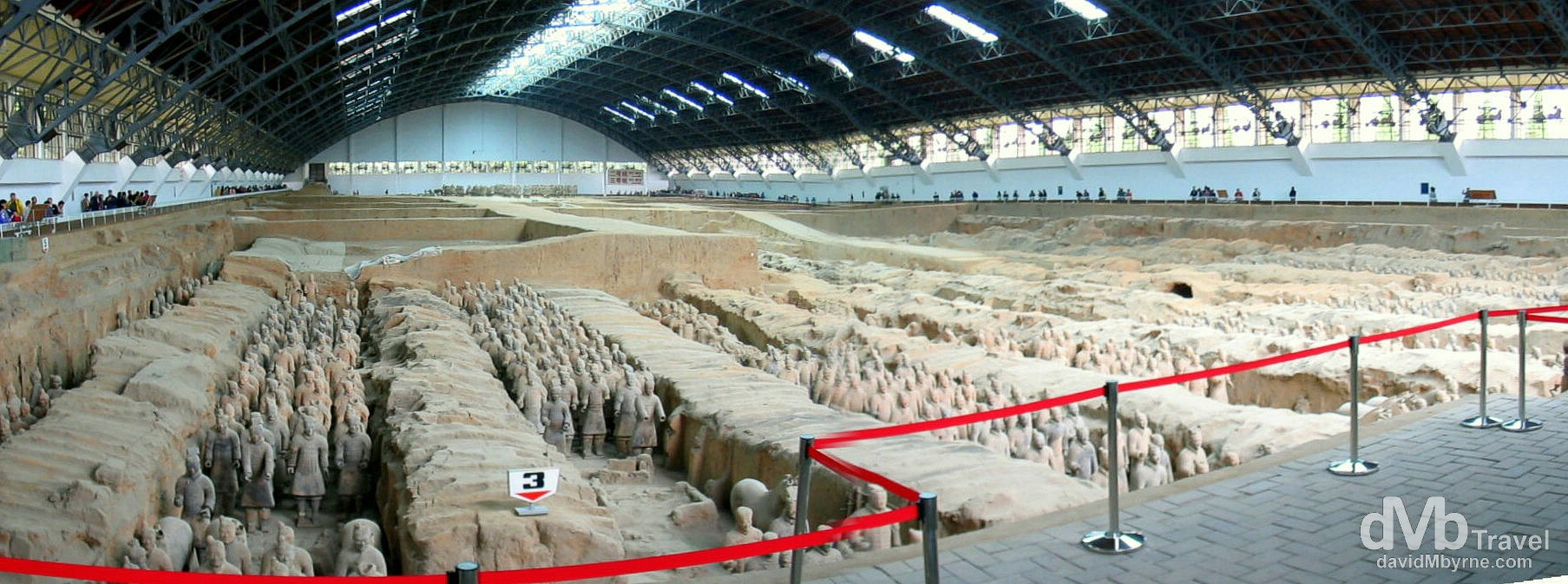 Vault 1 of the Terracotta Army on the outskirts of Xian, Shaanxi Province, China. September 30th, 2004