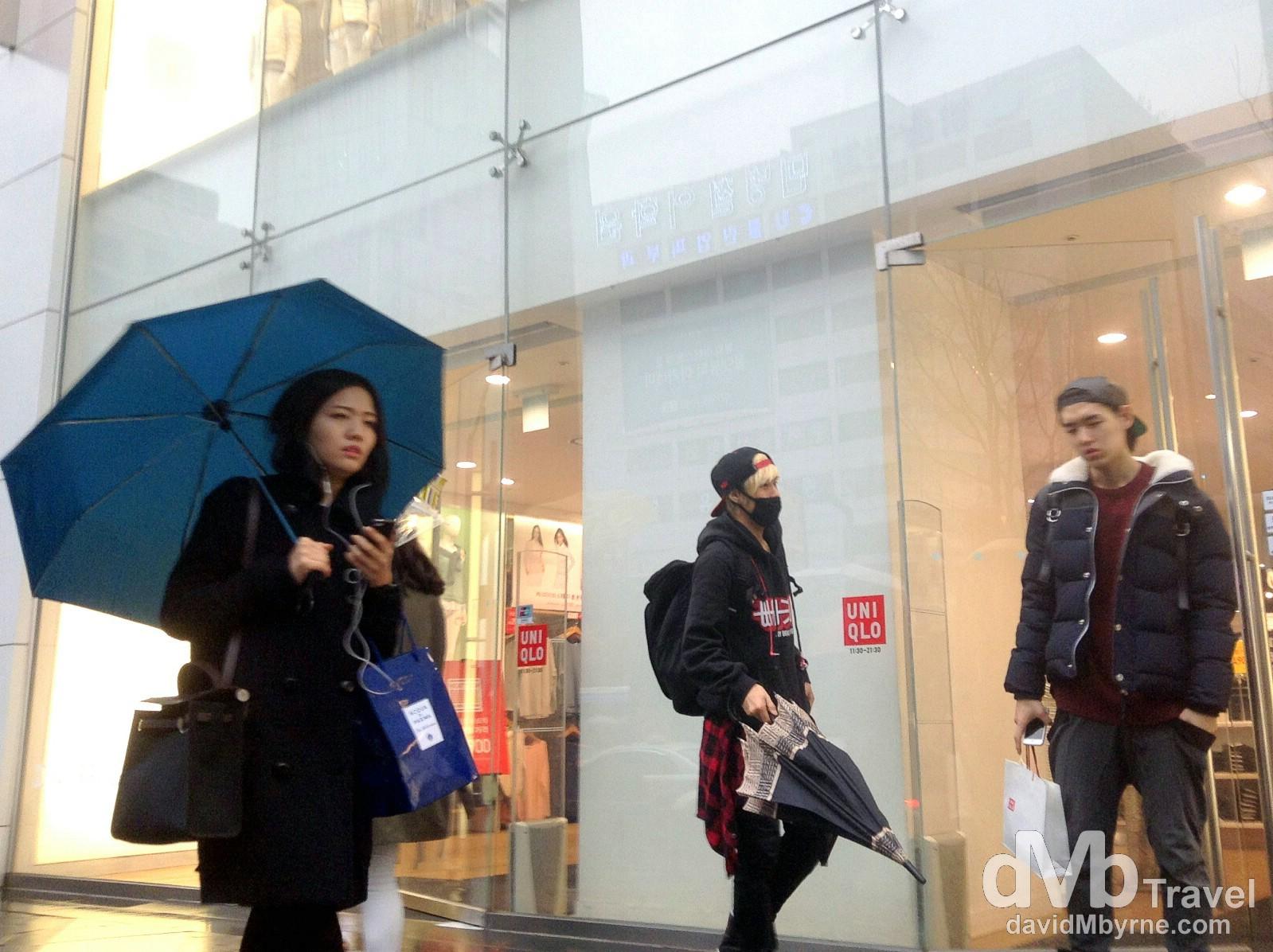 Gangnam, Seoul, South Korea. January 25th 2014.