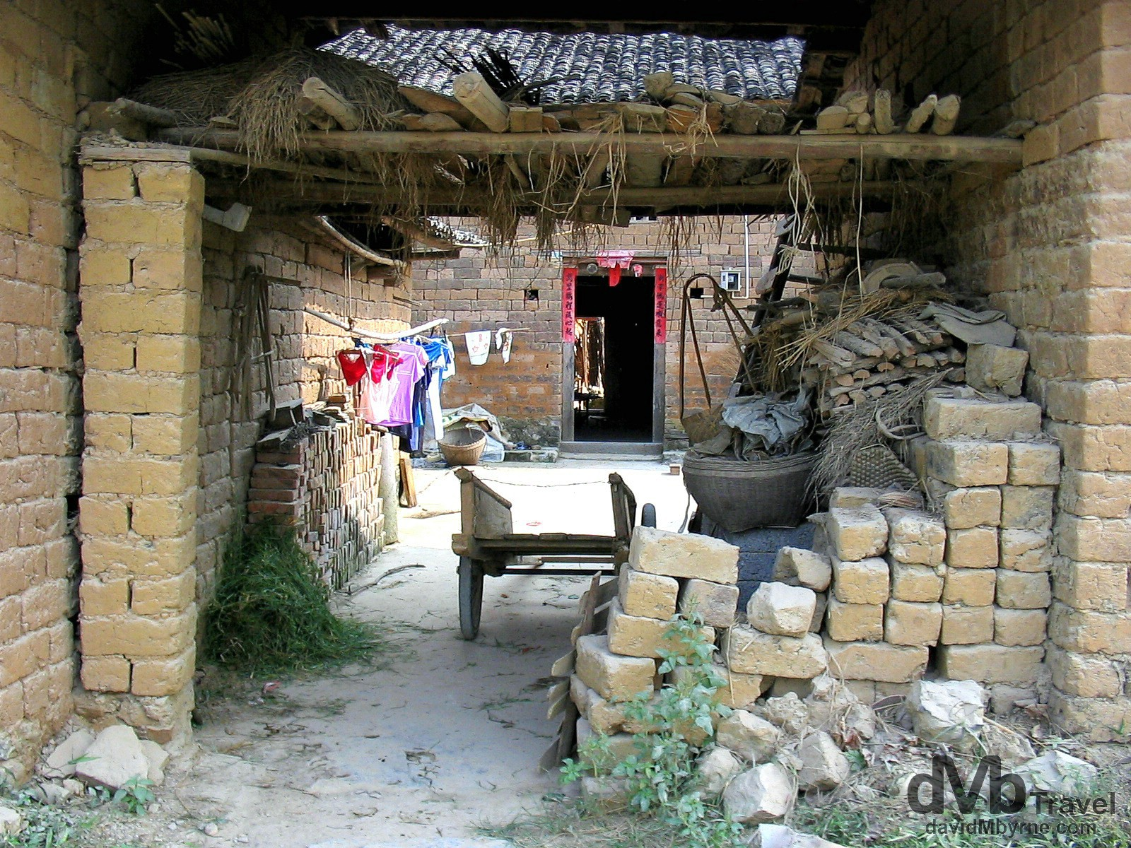 A village in the countryside outside Yangshou, Guangxi Province, Southern China. September 11th, 2004.