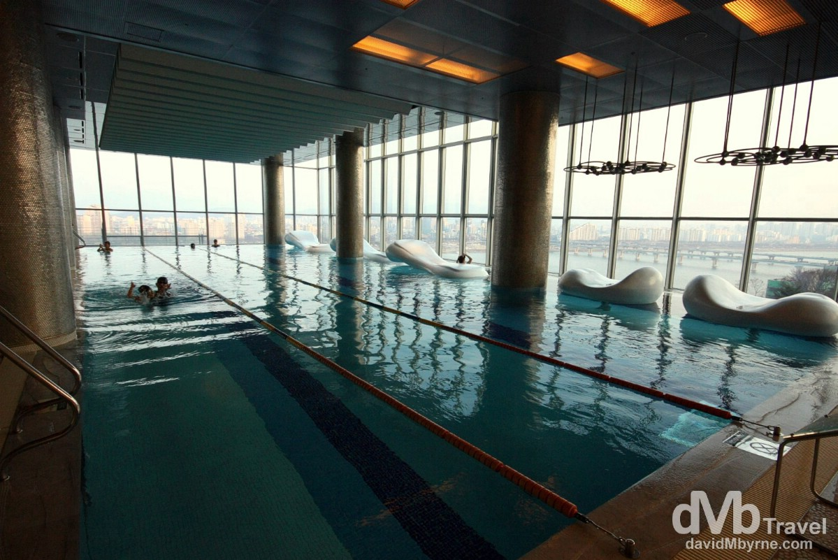 WET, the indoor pool of the W Hotel, Walkerhill, Seoul.