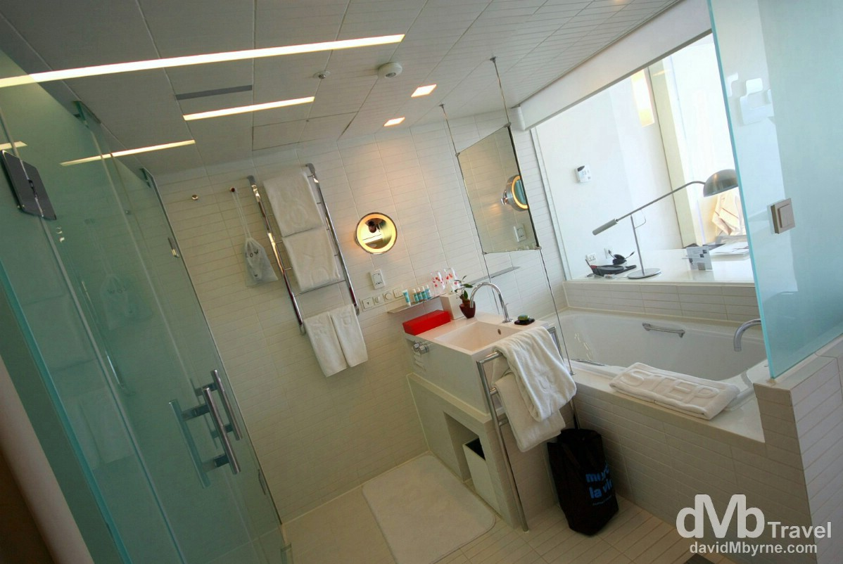 Wonderful room bathroom, W Hotel, Walkerhill, Seoul.
