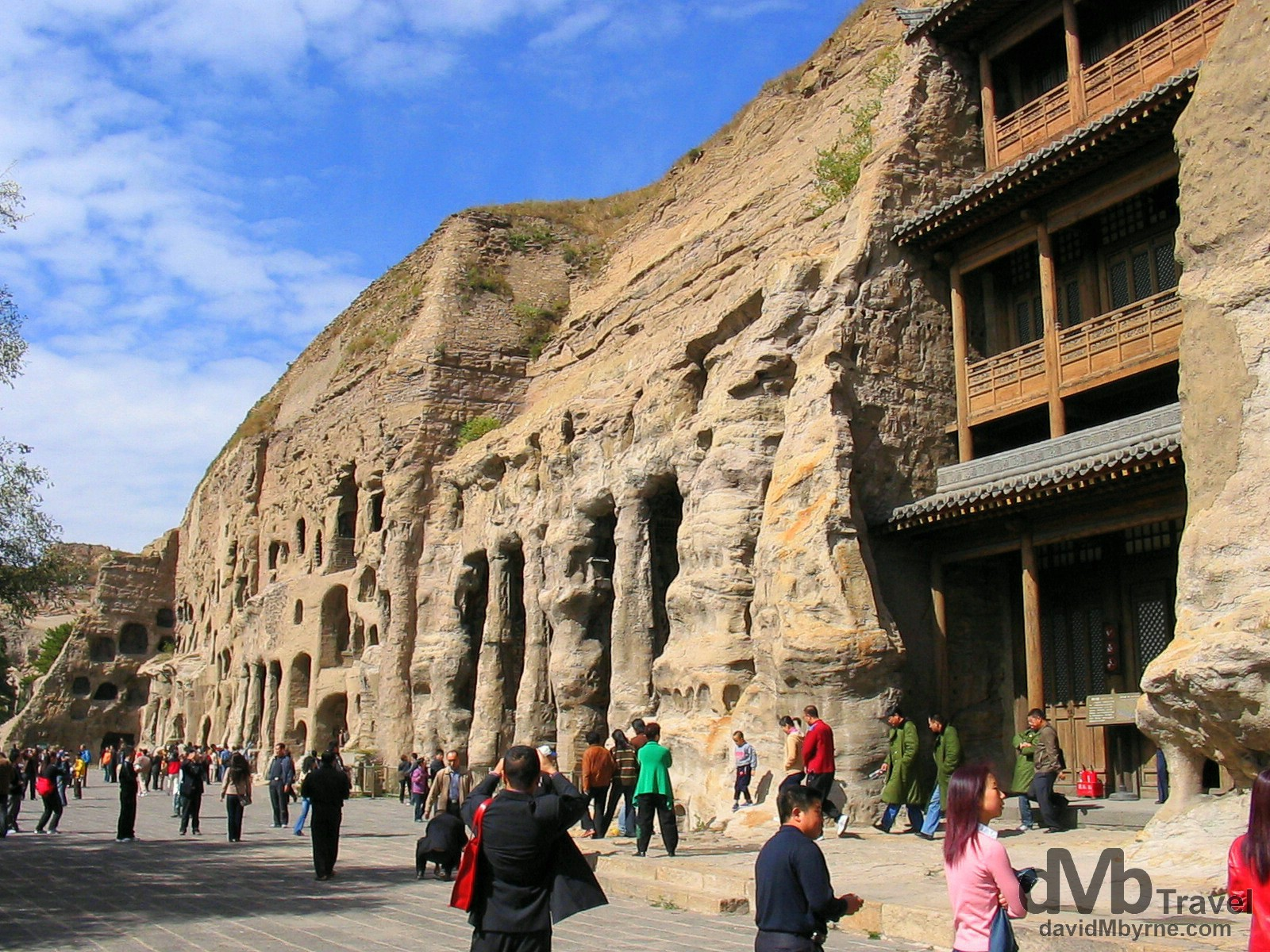 A section of the UNESCO listed Yungang Cave Complex in Shanxi Province, China. October 2nd, 2004.
