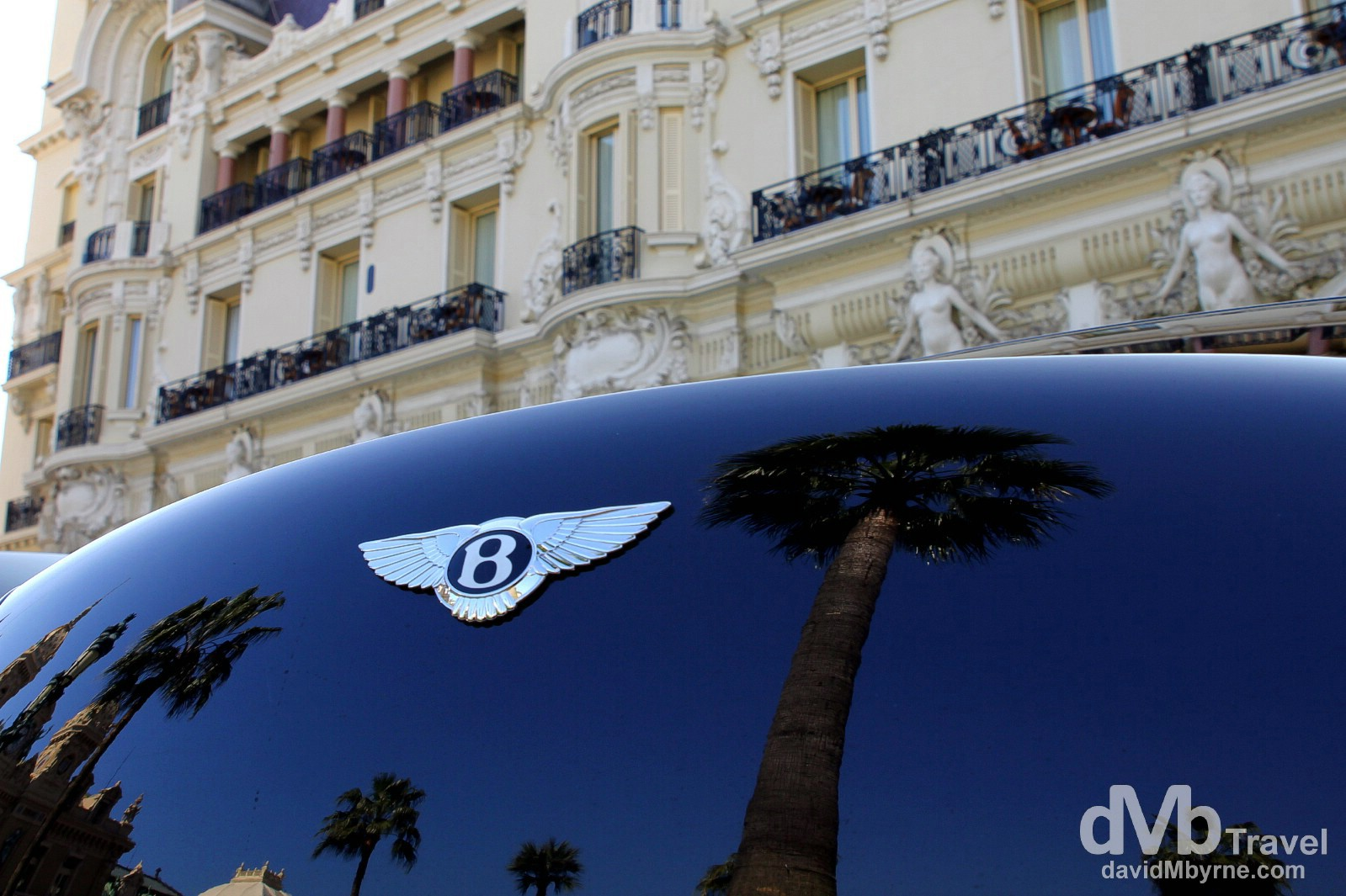 A Bentley parked outside the Hotel de Paris in Monte-Carlo, Monaco, March 14th, 2014.