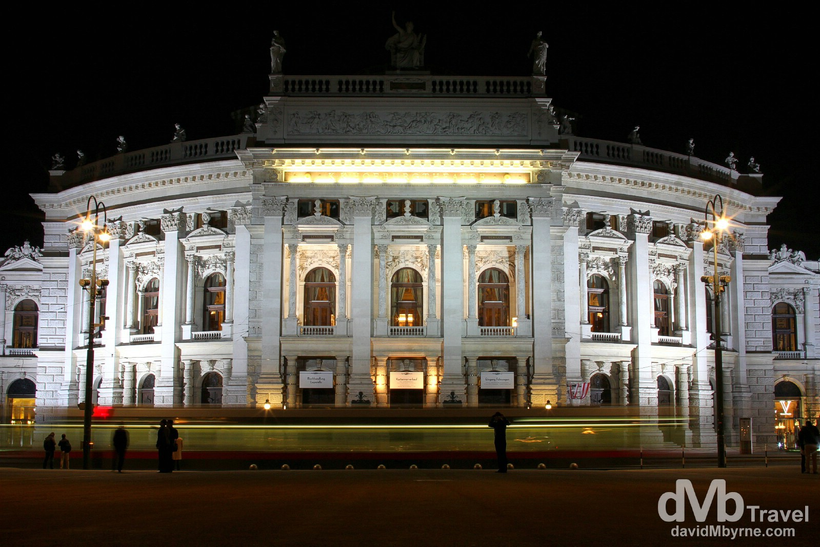 A tram passing in front of Burgtheater in Vienna, Austria. march 29th, 2014.