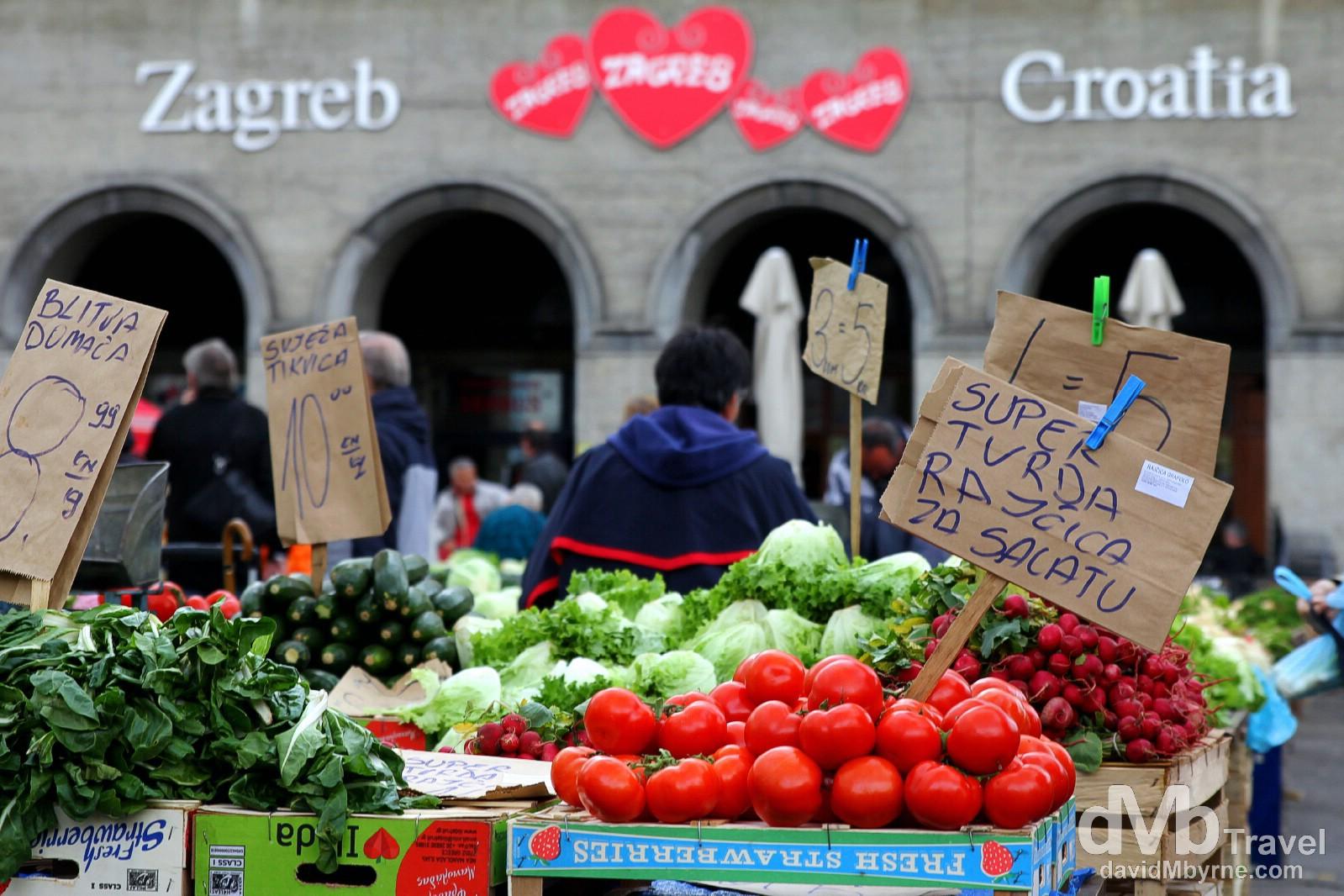 Dolac Fruit & Vegetable Market, Zagreb, Croatia. March 24th, 2014.