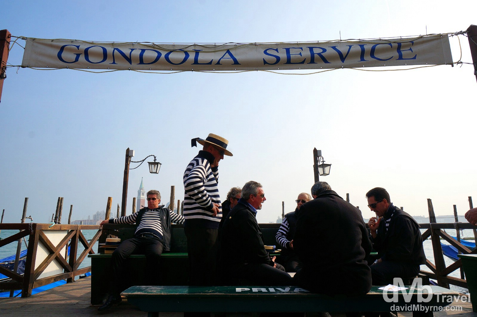 Gondola Service downtime by the Grand Canal off Piazzetta San Marco, Venice, Italy. March 18th, 2014.