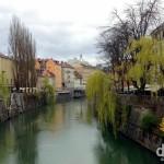 The Ljubljanica river in Ljubljana, Slovenia. March 23rd, 2014.
