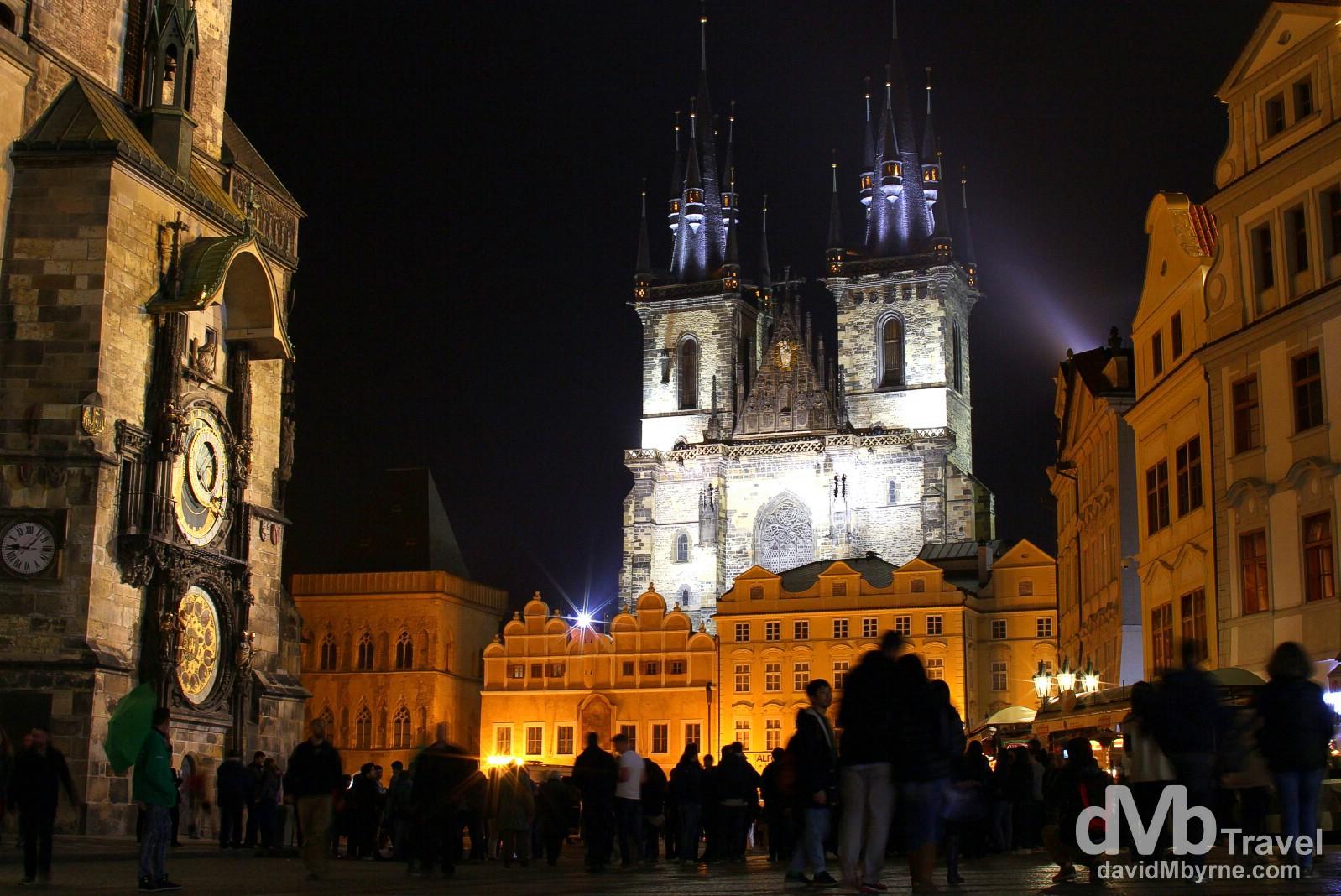 Old Town Square, Prague, Czech Republic, March 30th, 2014.