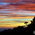 Sunset from the village of Laban Rata high on the slopes of Mount Kinabalu, Sabah, Malaysian Borneo. June 22nd 2012.