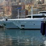 Yachts & pleasure craft in Port de Monaco, Monaco. March 14th, 2014.
