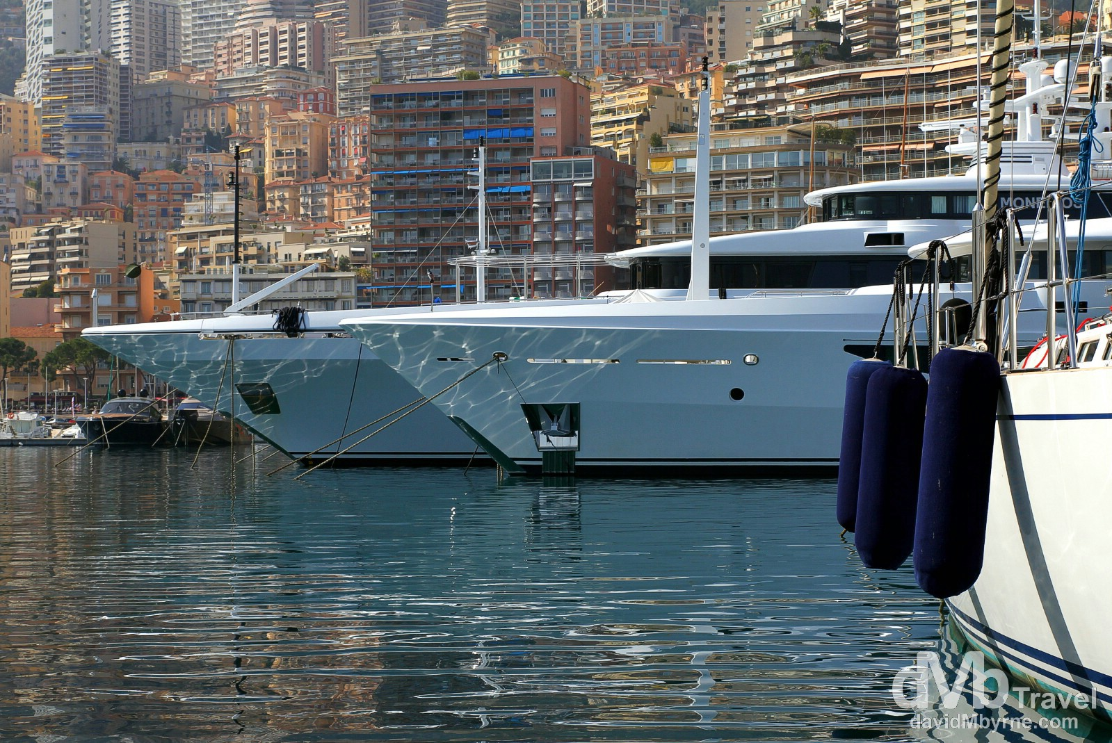 Yachts & pleasure craft in Port de Monaco, Monaco. March 14th, 2014.