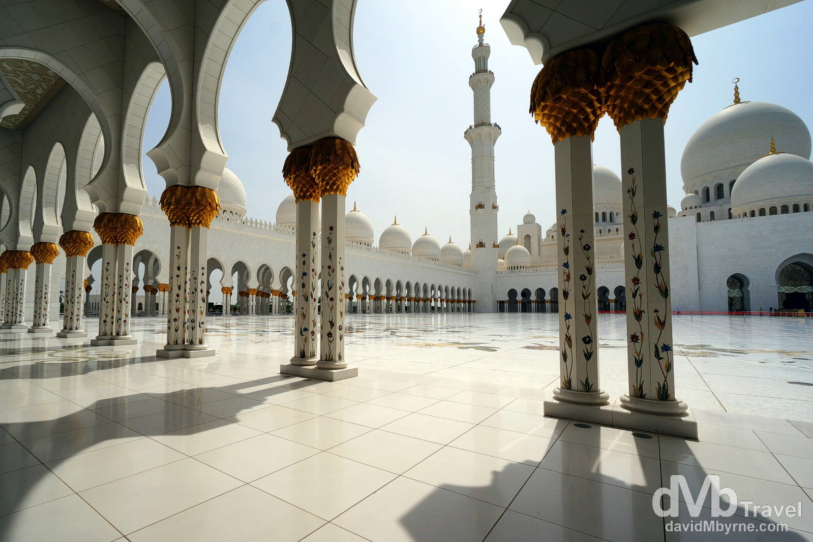 The Sheikh Zayed Grand Mosque in Abu Dhabi, UAE. April 23rd, 2014.