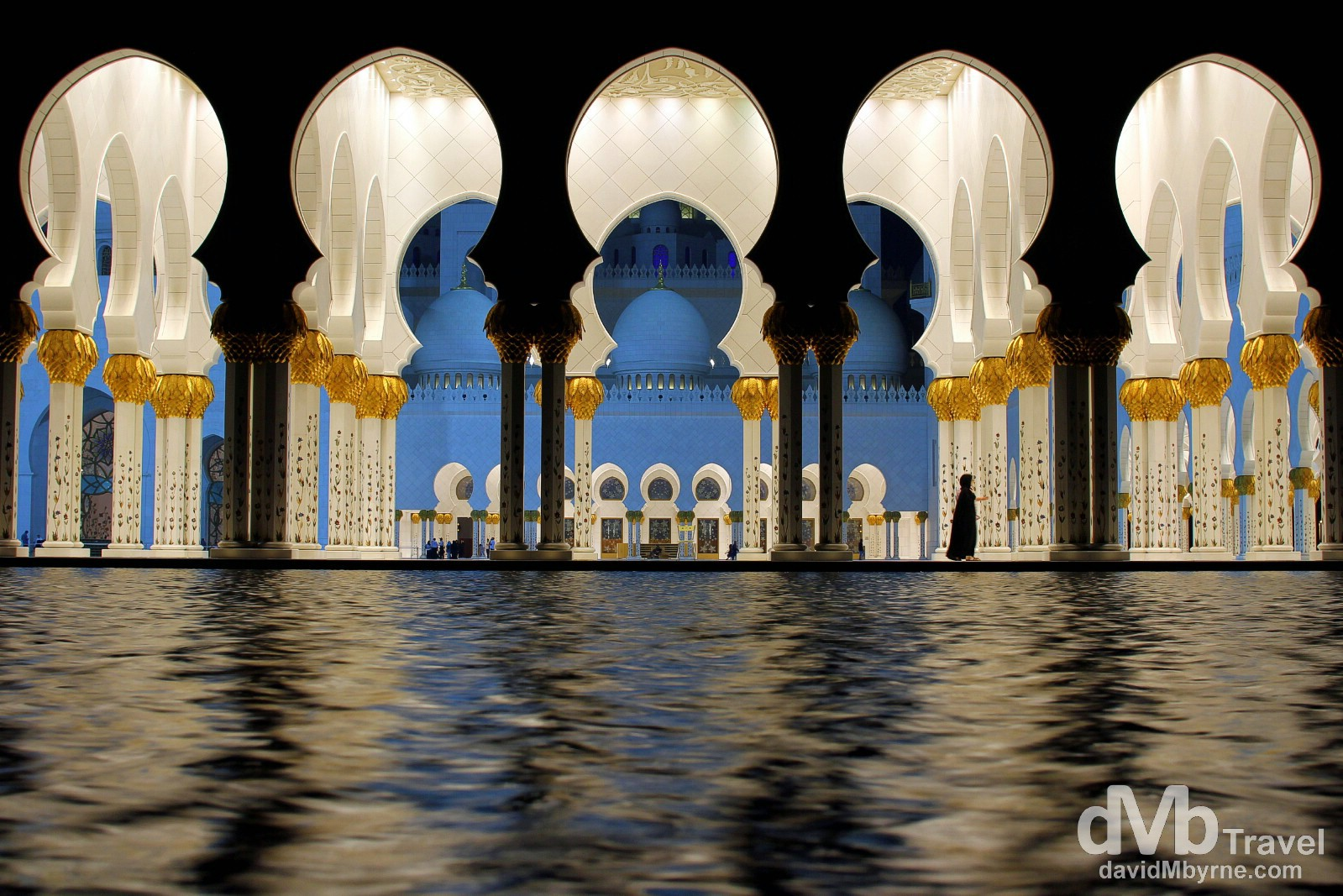 The Sheikh Zayed Grand Mosque, Abu Dhabi, UAE. April 22nd, 2014.