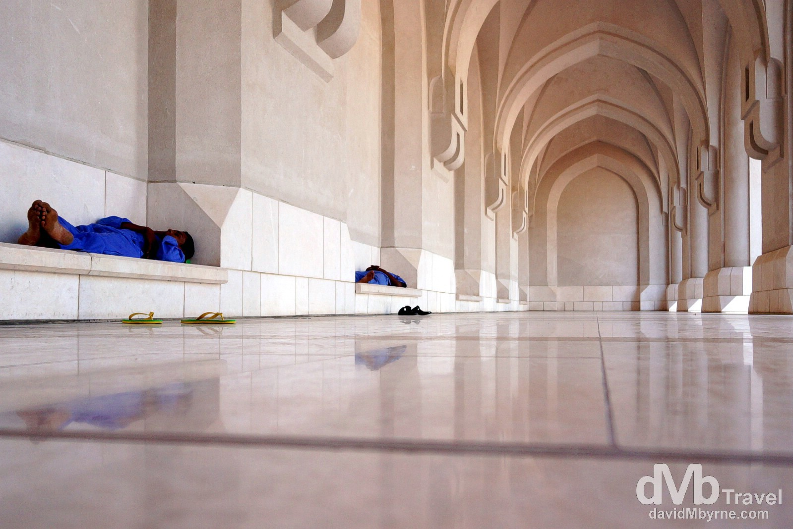 Taking a mid-afternoon nap in the grounds of Al Alam/Sultan's Palace, Muscat, Oman. April 26th, 2014.