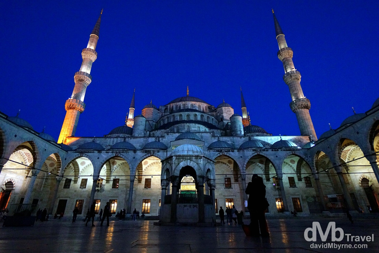 The inner courtyard of the Sultan Ahmed Mosque, aka The Blue Mosque, in Istanbul, Turkey. April 9th, 2014.