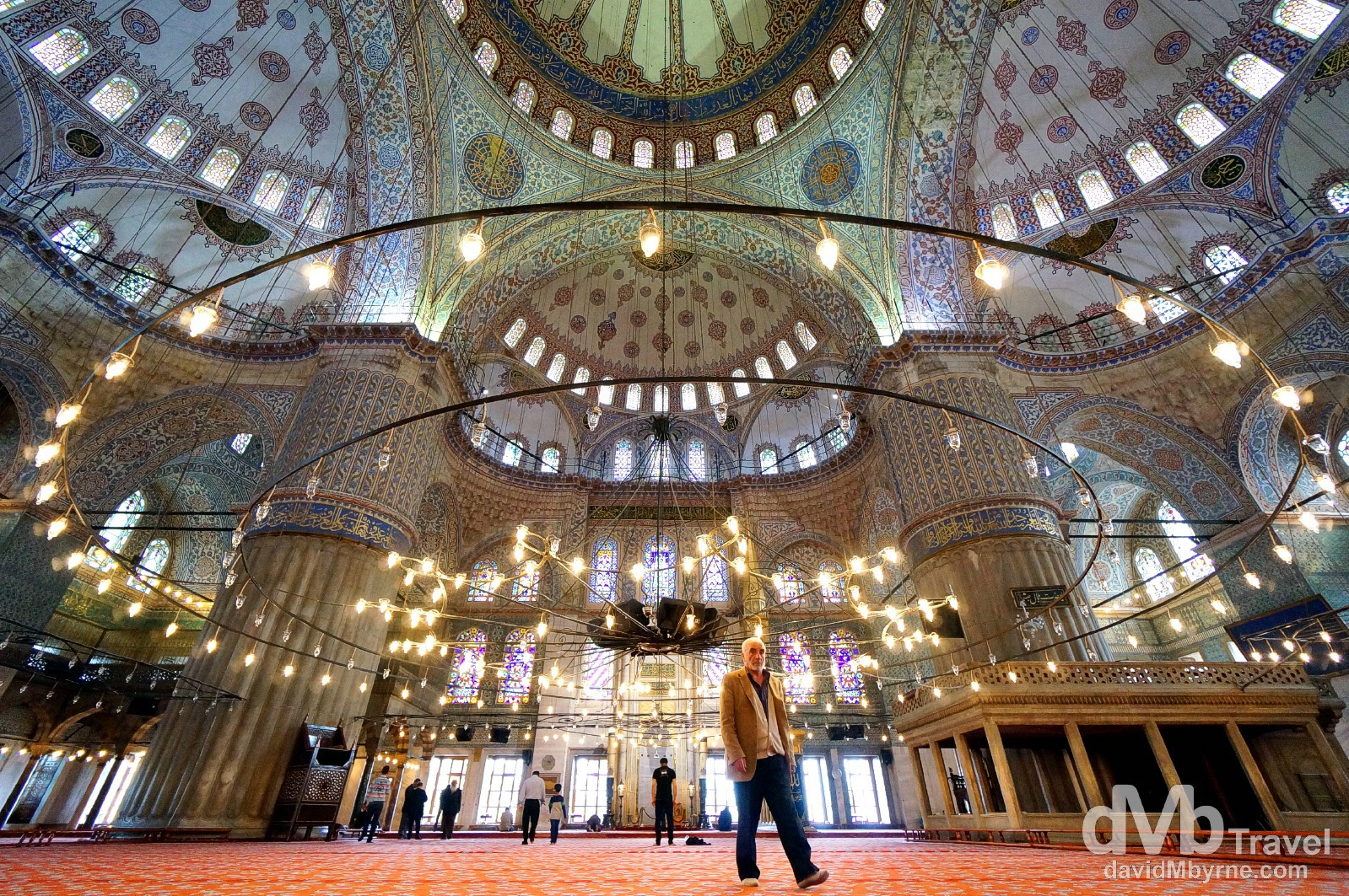 The Sultan Ahmed Mosque, aka The Blue Mosque, Istanbul, Turkey. April 10th, 2014.