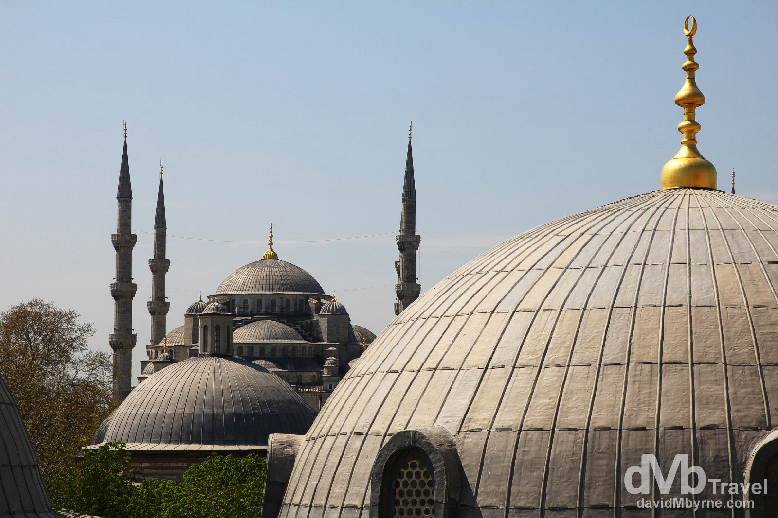 The Sultan Ahmed Mosque, aka The Blue Mosque, as seen from the upper windows of the Aya Sofya. Istanbul, Turkey. April 10th, 2014.