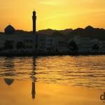 Sunset on Mutrah Corniche in Muscat, Oman. April 25th, 2014.