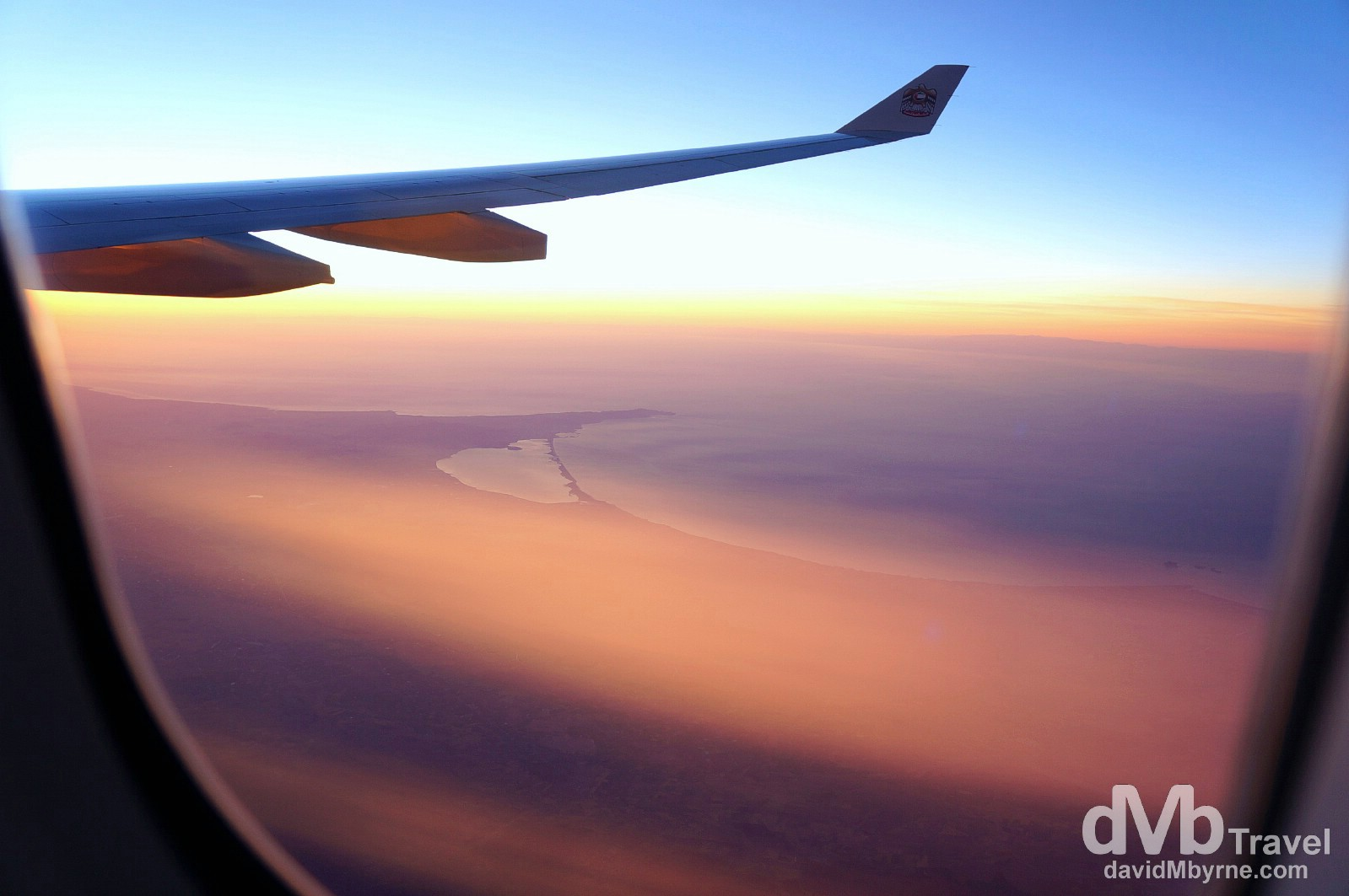 A section of the Moroccan Mediterranean coastline as seen from Etihad Airways flight 611 en route from Abu Dhabi, UAE, to Casablanca, Morocco. April 27th, 2014.