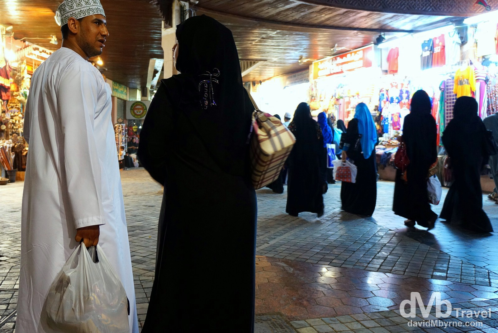 In the maze-like Mutrah Souq (marketplace) in Muscat, Oman. April 25th, 2014.