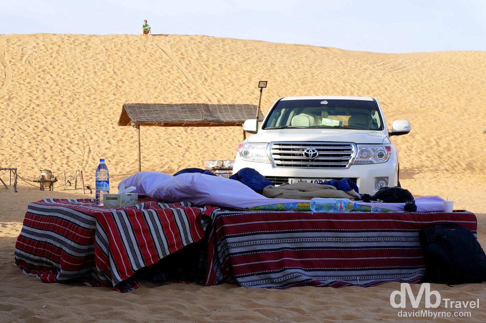 North Tours Desert Camp outside Dubai, UAE. April 18th, 2014.