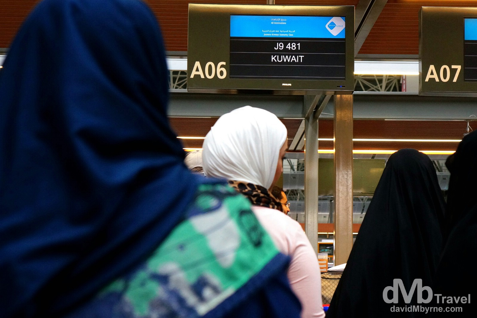 Checking in for Jazeera Airways flight 9481 in Sabiha Gokcen International Airport, Istanbul, Turkey. April 11th, 2014.