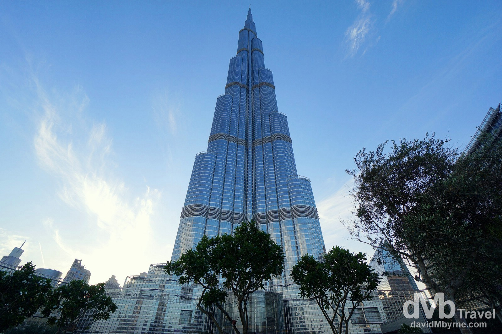 At the foot of the Burj Khalifa in Downtown Dubai, UAE. April 18th, 2014.