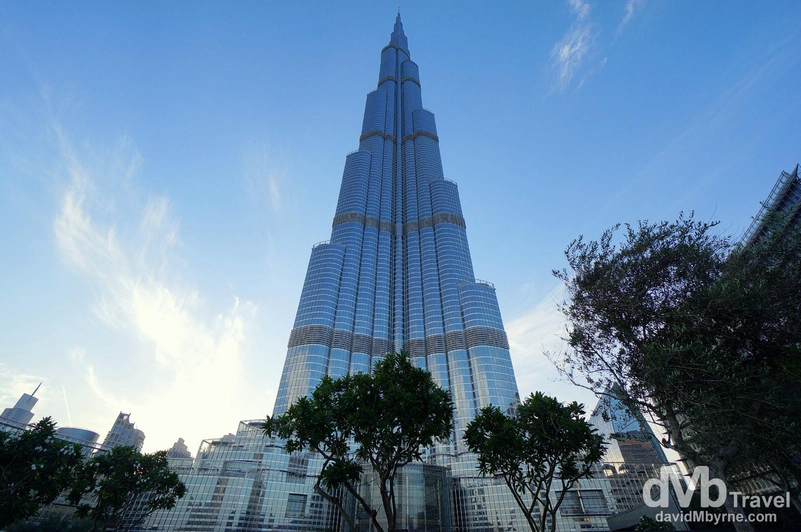 At the foot of the Burj Khalifa in Downtown Dubai, UAE. April 18th, 2014.