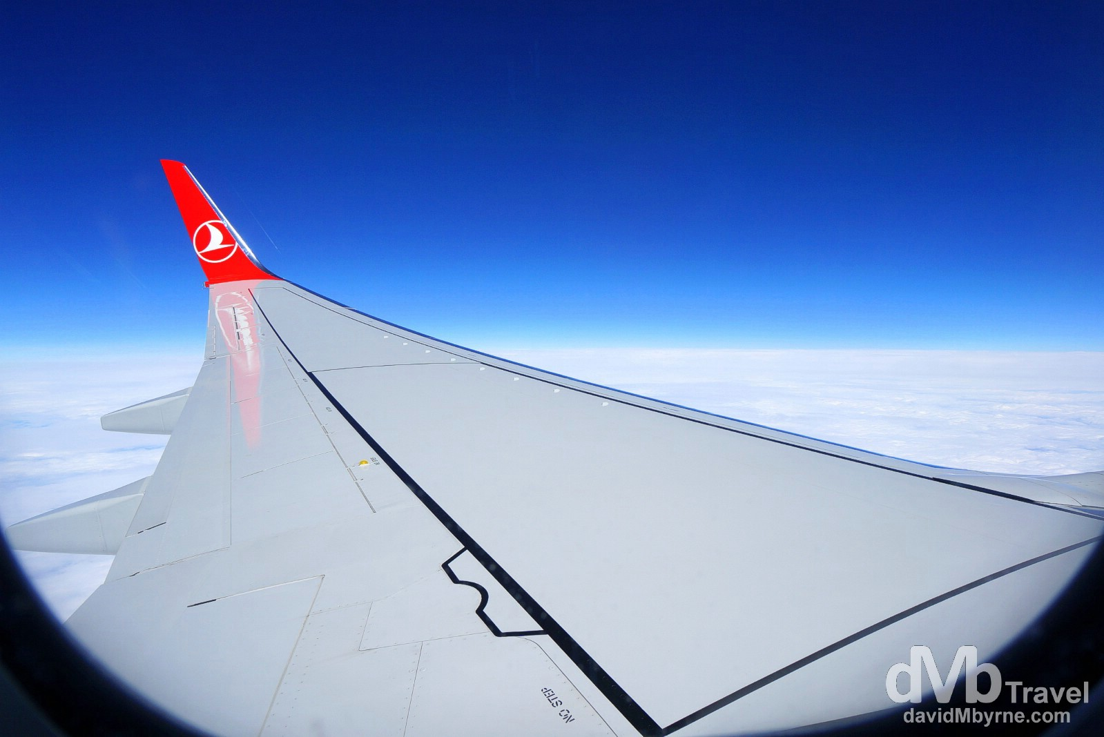 Turkish Airways flight TK1976 en route from Dublin, Ireland, to Istanbul, Turkey. April 9th, 2014.