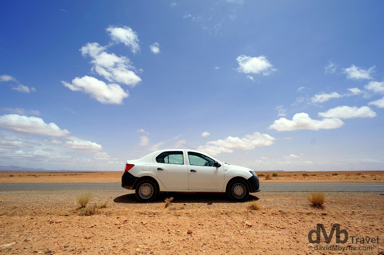 Dacia Logan. On the road outside Er Rachedia, Morocco. May 18th, 2014.