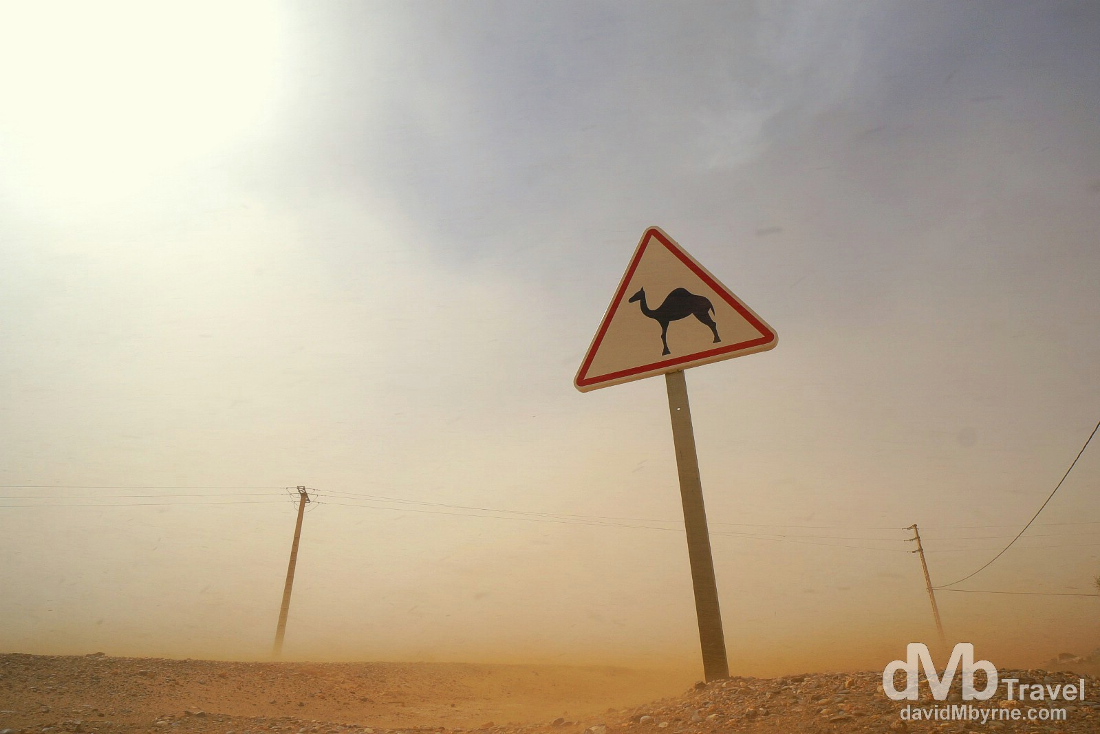Sandstorm outside the village of Merzouga, Morocco. May 20th, 2014.
