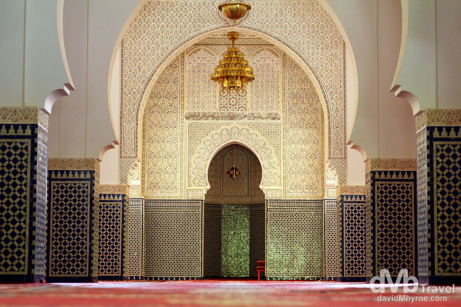The interior of the Zaouai of Moulay Ali Shereef, the founder of the Moroccan Alaouite dynasty, outside the village of Rissani, Morocco. May 22nd, 2014.