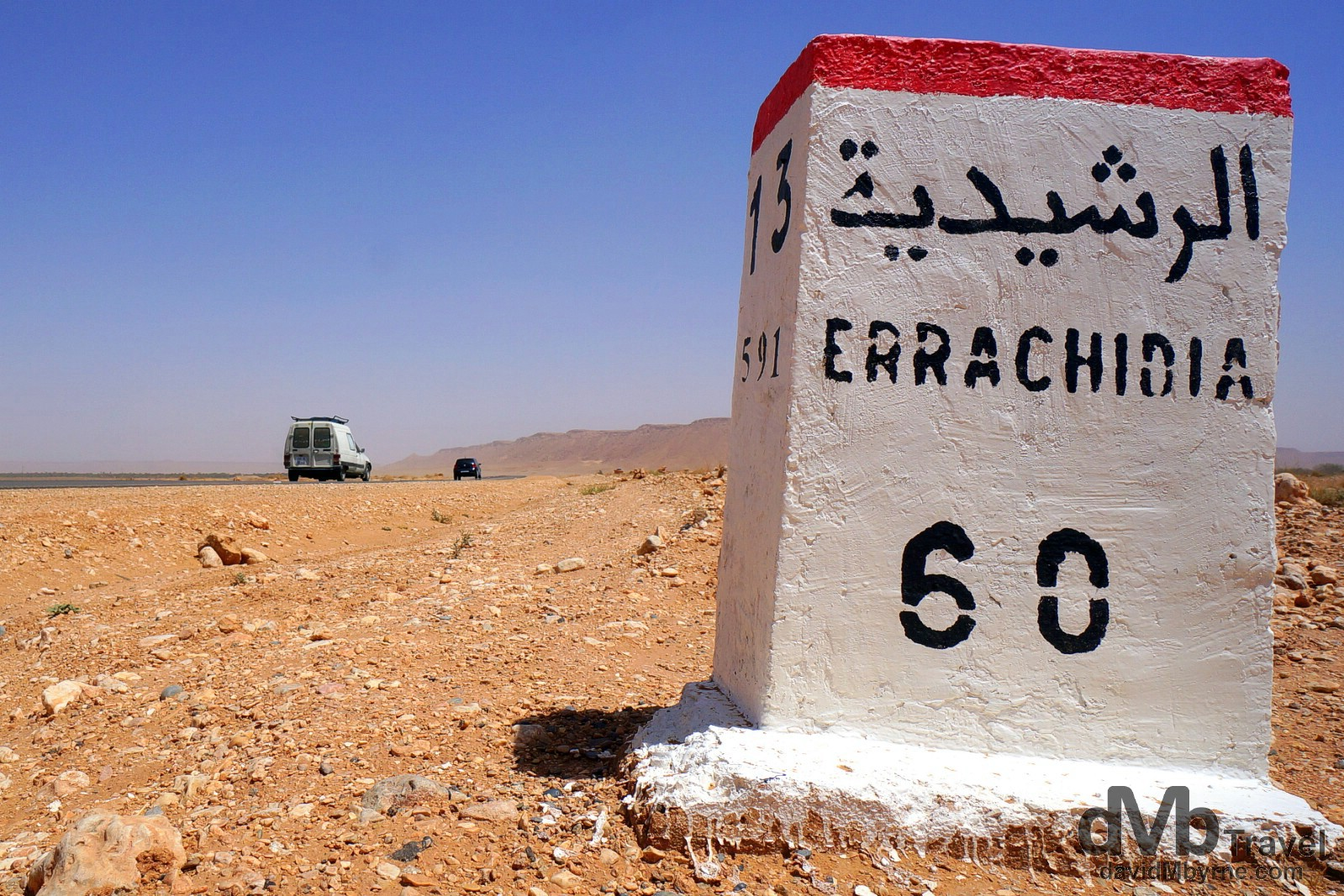 On the N13 en route from Merzouga to Er Rachidia, southern Morocco. May 22nd, 2014.