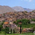 The village of Aroumd as seen from the Mizane Valley, High Atlas, central Morocco. May 10th, 2014.