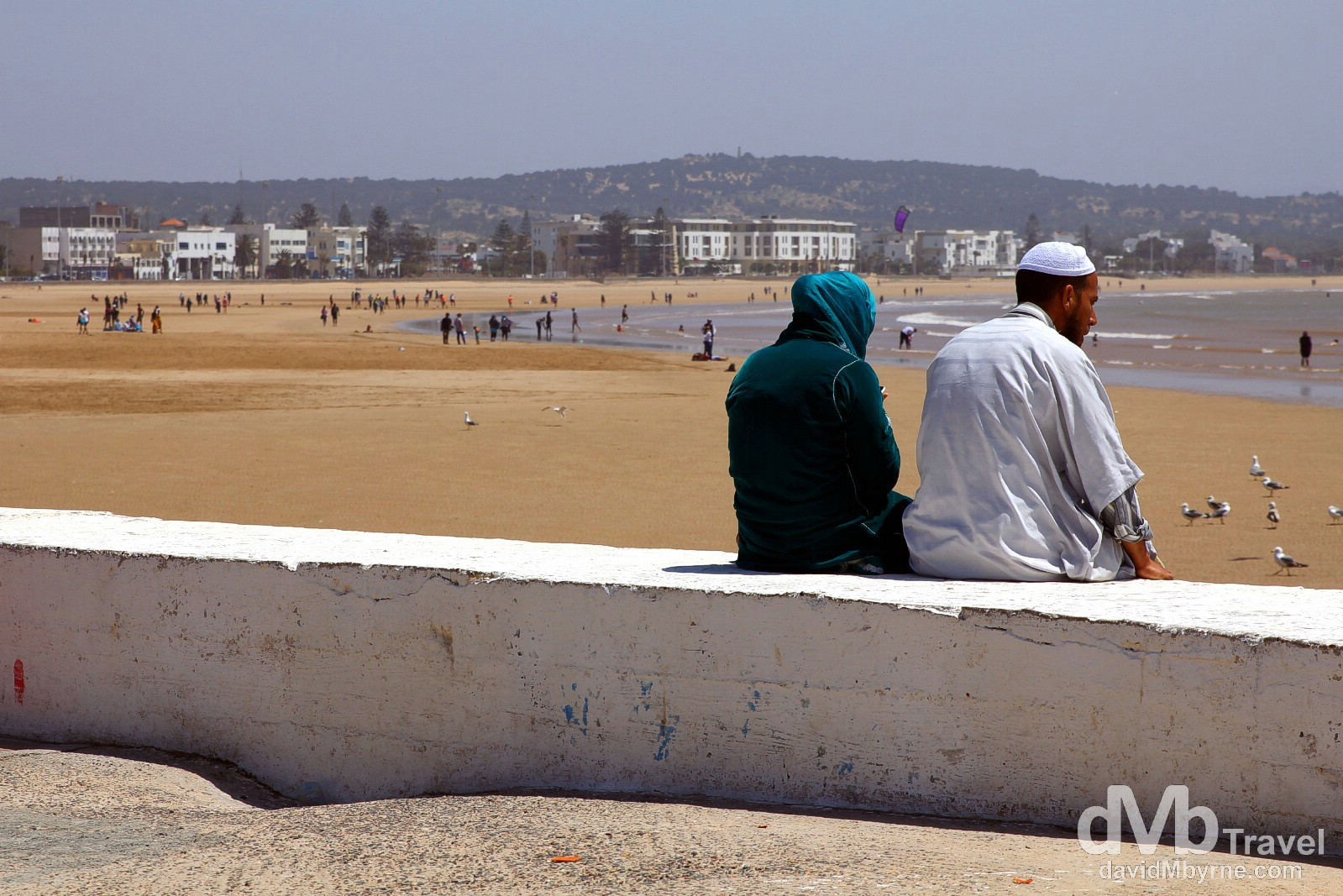 Overlooking the beach in Essaouira, Morocco. May 3rd, 2014.
