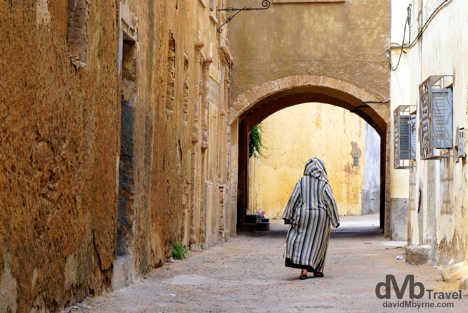 In the lanes of the UNESCO-listed Cite Portugaise, El Jadida, Morocco. May 1st, 2014.