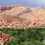 The landscape in a section of Dades Gorge, Morocco. May 15th, 2014.