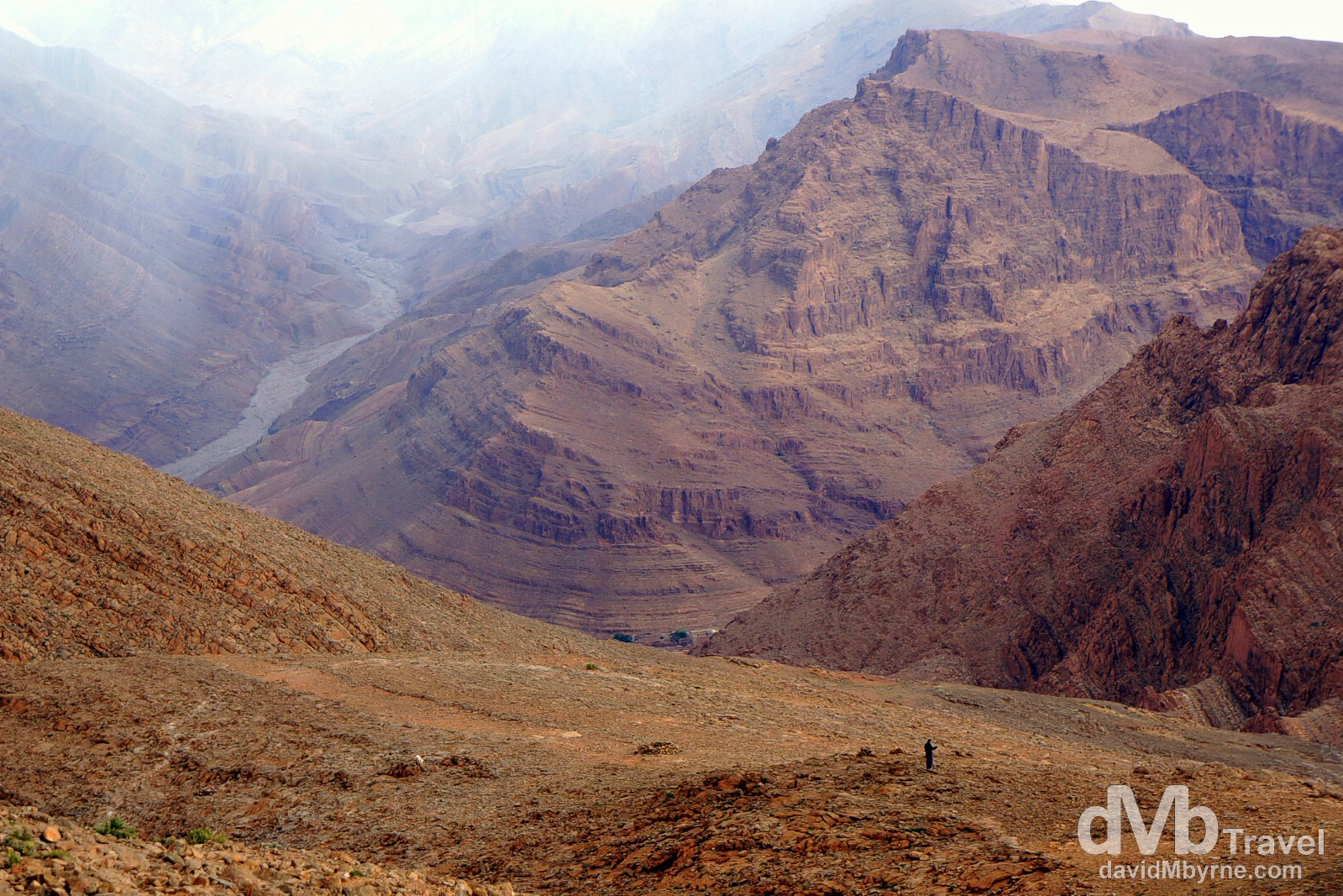 In the barren hills above Todra Gorge, Morocco. May 16th, 2014.