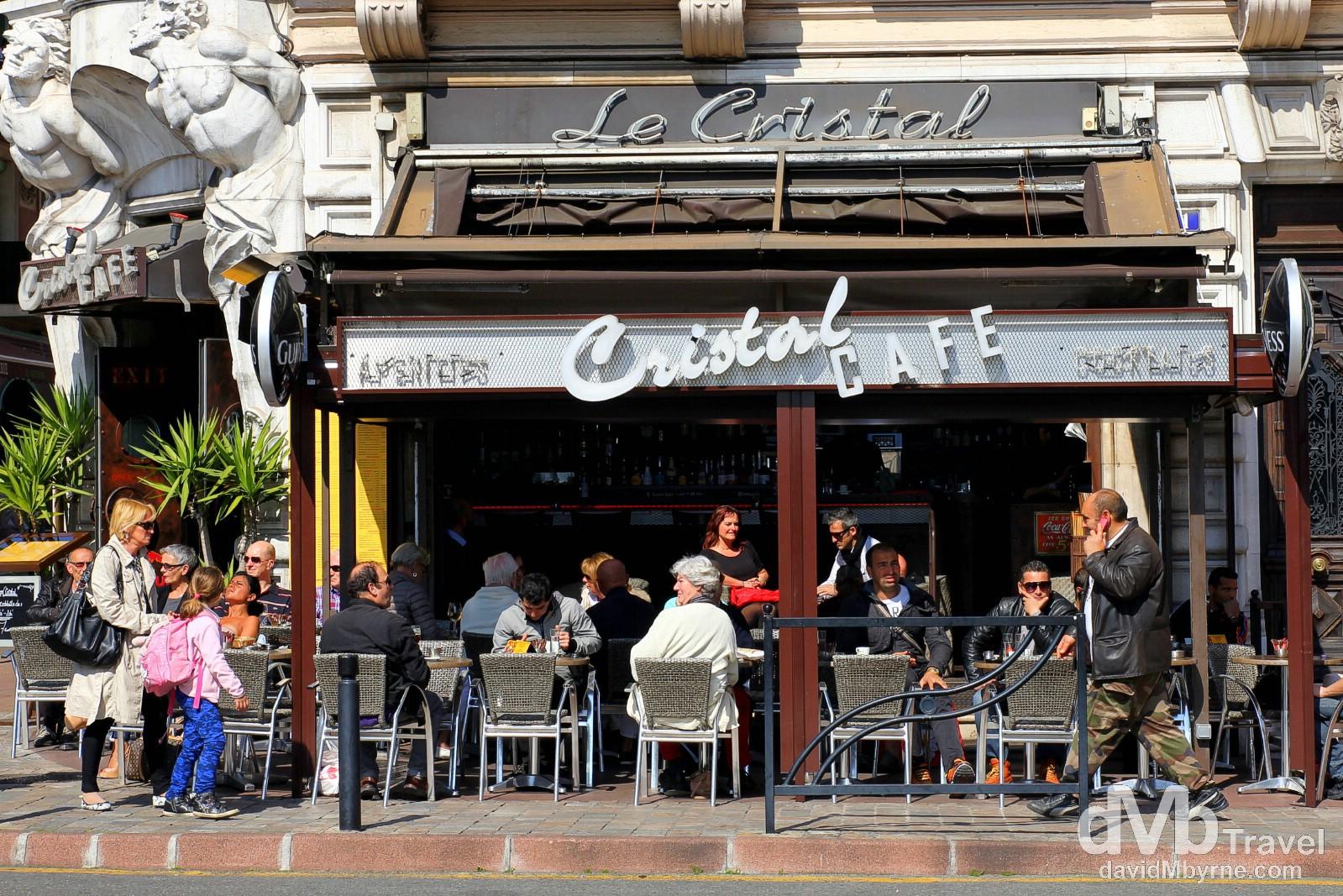 Le Cristal Café, Cannes, Côte d'Azur, France. March 15th, 2014.