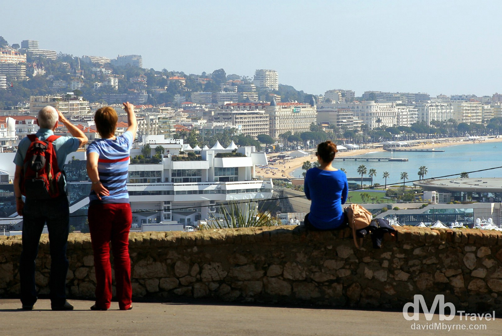 Viewing the Baie de Cannes from Le Suquet (Old Town), Cannes, Côte d'Azur, France. March 15th, 2014.