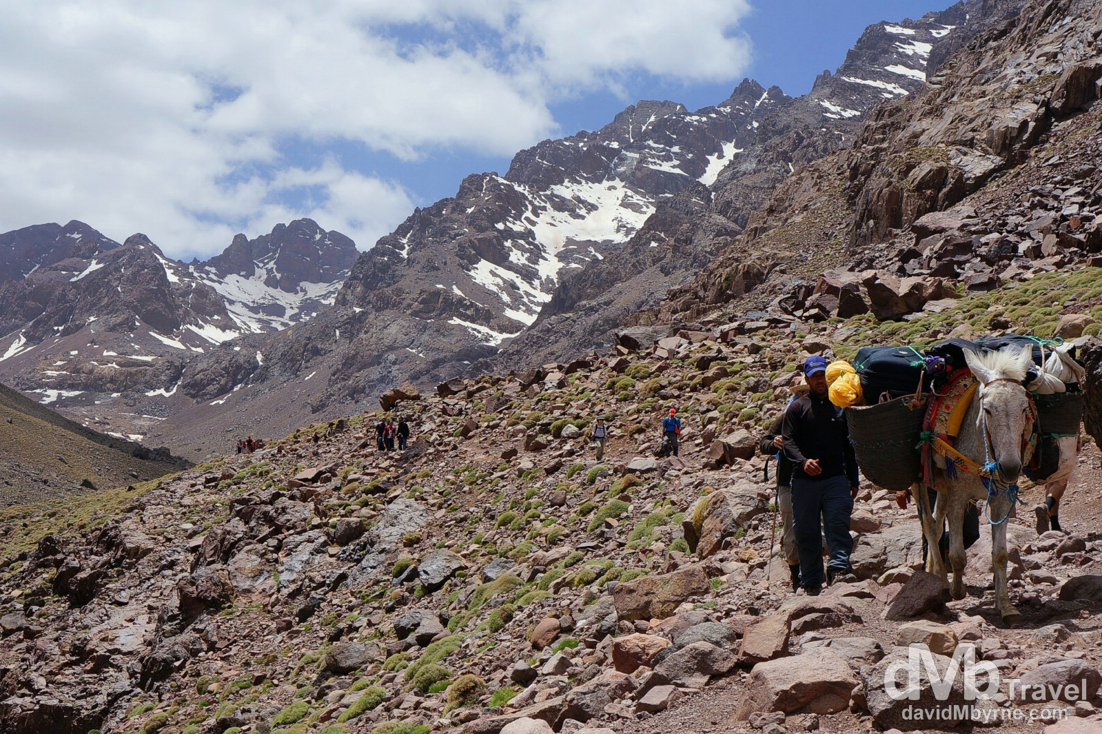 On the Jebel Toubkal trek in the High Atlas Mountains in central Morocco. May 10th, 2014.