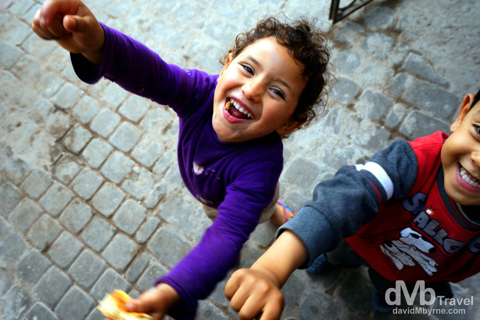 Kids in the narrow lanes of the medina in Essaouira, Morocco. May 4th.