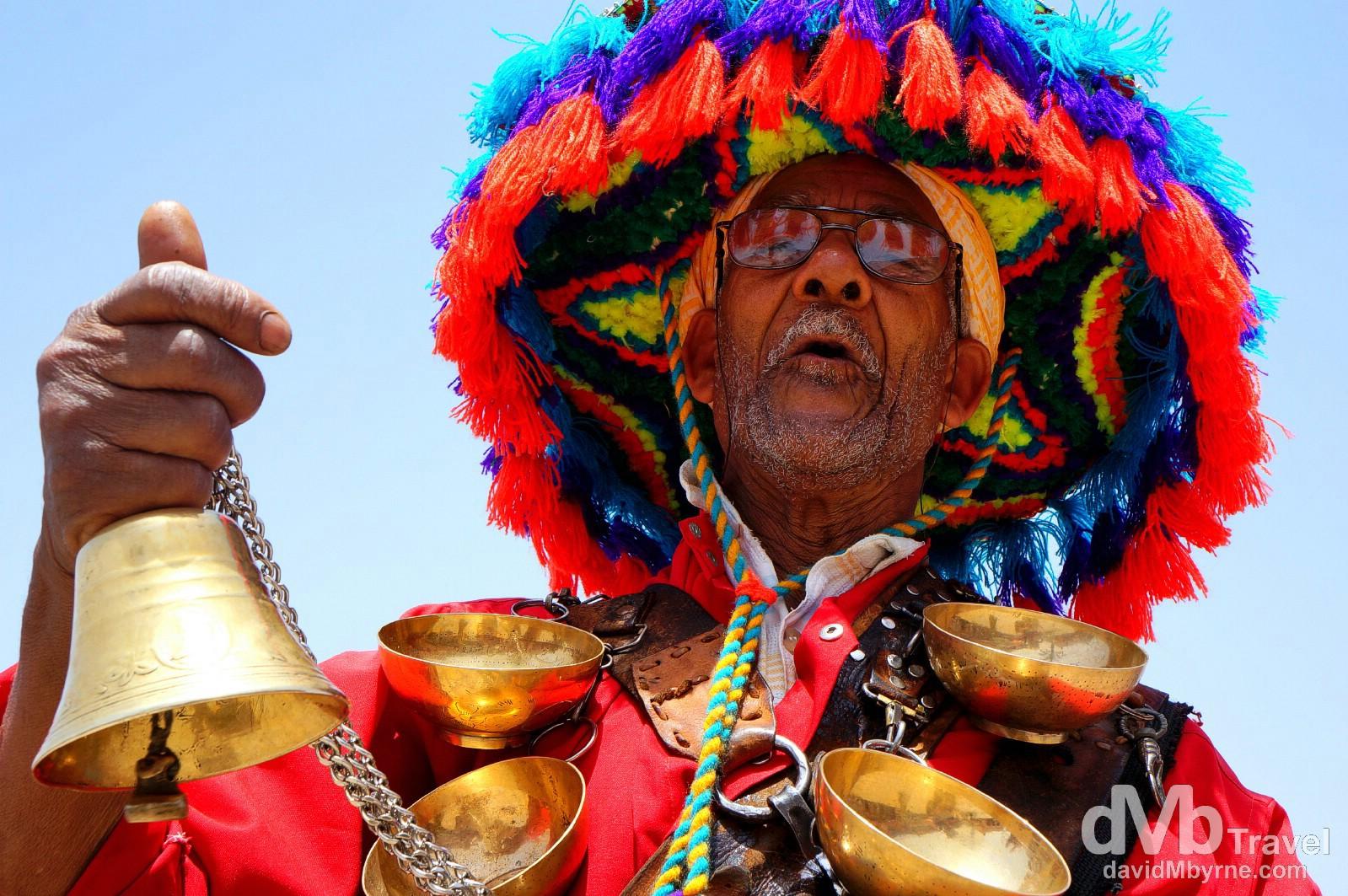 A man in Djemma El-Fna, Marrakesh, Morocco. May 8th, 2014.