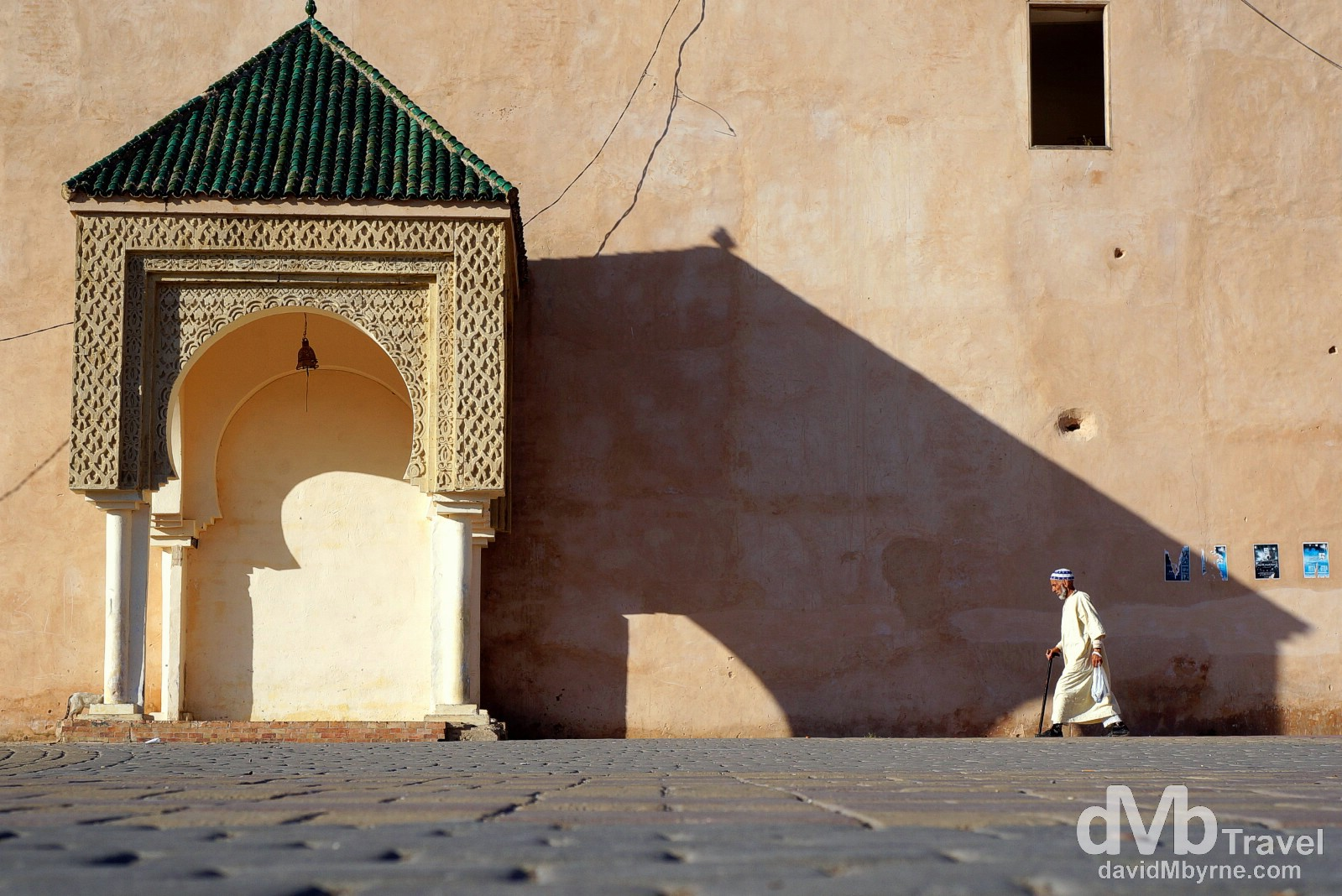 Late afternoon shadows in Place el Hedim, Meknes, Morocco. May 23rd, 2014.